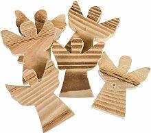 Weihnachtliche Tisch-Deko aus Holz (Engel)