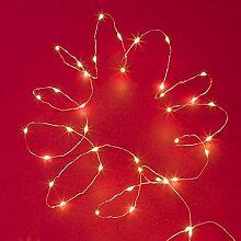Weihnachtliche Tisch-Lichterkette mit 60 LEDs