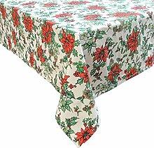 Weihnachtliche Tischdecke aus 100 % Baumwolle -