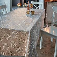 Weihnachtliche Tischdecke mit edlem Glanzeffekt
