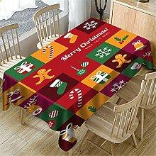 Weihnachtliche Tischdecke mit Halloween-Muster,