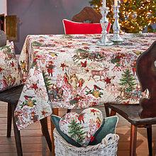 Weihnachtliche Tischdecke mit nostalgischen