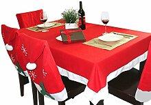 Weihnachtliche Tischdecke Stuhlhusse Set Zierdecke