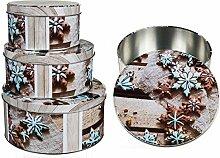 weihnachtliche Vorratsdose Blechdose Keksdose für