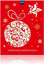 Weihnachtlicher Adventskalender mit