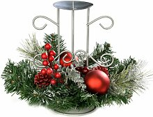 Weihnachtliches Blumengesteck mit Kerzenhalter Die