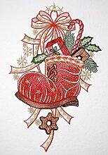 weihnachtliches Fensterbild SPITZENBILD Plauener