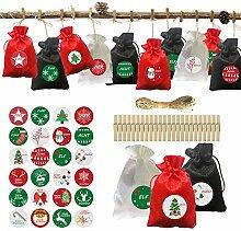 Weihnachts-Adventskalender, 24 Stück/Set
