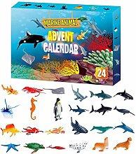 Weihnachts-Adventskalender, 24PCS Marine Animal