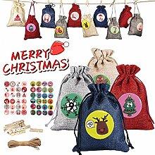 Weihnachts-Adventskalender-Taschen, 24 Tage