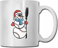 Weihnachts-Baseball-Schneemann-Becher,