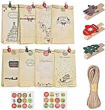 Weihnachts-Countdown-Kalender-Set, niedlich,