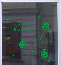 Weihnachts Deko Aufkleber Eleganz Schaufenster Beschriftung Laden Grün