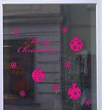 Weihnachts Deko Aufkleber Eleganz Schaufenster Beschriftung Laden Mageta