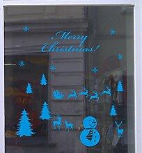 Weihnachts Deko Aufkleber Winterlandschaft Schaufenster Beschriftung Laden Ocean