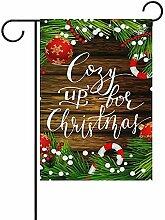 Weihnachts-Design auf Holz doppelseitige Polyester
