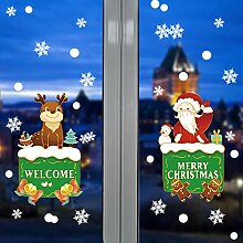Weihnachts-Fensterdekorationen,