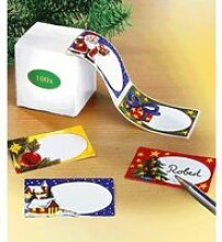 Weihnachts Geschenk-Aufkleber 100 St.