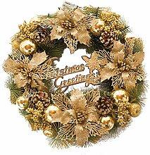 Weihnachts Goldene kranz Weihnachts blume Tür