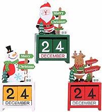 Weihnachts-Holz Kalender/Cartoon Old Man Snowman