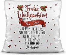 Weihnachts-Kissen mit liebem Spruch für - Ihn -