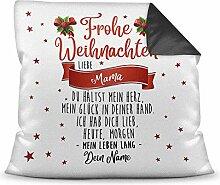 Weihnachts-Kissen mit liebem Spruch für - Mama -