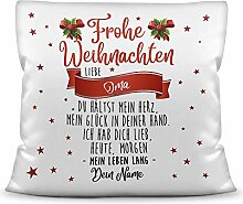 Weihnachts-Kissen mit liebem Spruch für - Oma -