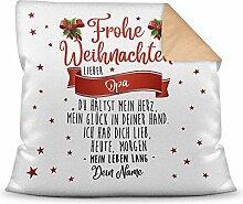 Weihnachts-Kissen mit liebem Spruch für - Opa -