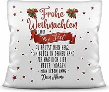 Weihnachts-Kissen mit liebem Spruch für - Sie -