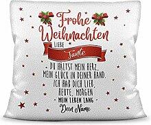 Weihnachts-Kissen mit liebem Spruch für - Tante -