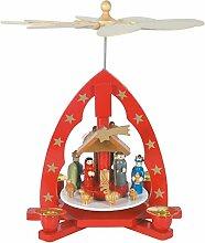 Weihnachts-Pyramide Krippe, hl. Familie und hl.