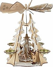 Weihnachts-Pyramide Winterwald mit