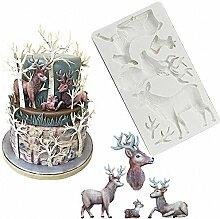 Weihnachts-Rentier Kuchen Fondant Form Elch Hirsch