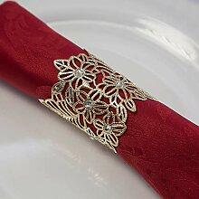 Weihnachts-Serviettenringe aus Metall, 7 Designs,
