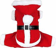 Weihnachts Stil Haustier warme Mantel Velvet Santa