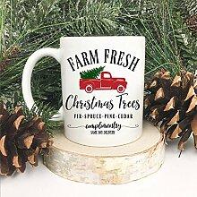 Weihnachts-Tasse mit Weihnachtsbaum und