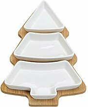 Weihnachts-Teller 4-teilig in Form eines