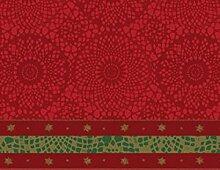 Weihnachts Tischdecke Festive red - 138 x 220 cm