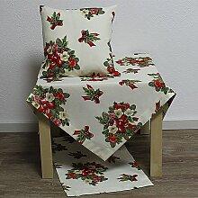 weihnachts Tischdecke Mitteldecke Pinas Christrose
