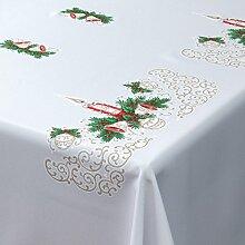 Weihnachts-Tischdecke weiß mit