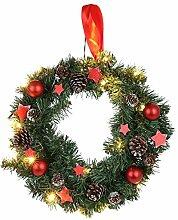 Weihnachts-Türkranz 40cm Weihnachtsdeko Wanddeko Tanne Sterne Zapfen Baumkugeln