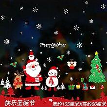 Weihnachts-Wandaufkleber, Schaufenster,