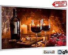 Weihnachtsaktion Bildheizung im Shop Infrarot Heizung 600 Watt Wein und Käse Fern Infrarotheizung - 5 Jahre Herstellergarantie- Elektroheizung mit Überhitzungsschutz -Heizt bis 18m² - GS durch TÜV