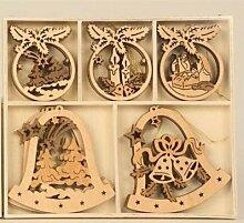 Weihnachtsanhänger / Christbaumanhänger aus Holz