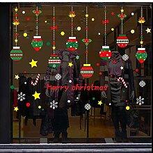 Weihnachtsaufkleber Dekoration Einkaufszentrum