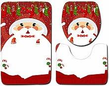 Weihnachtsbadezimmer-Toilettensitz-dreiteilige