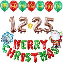 Weihnachtsballon-Set Santa + Brief Ballon + Nummer