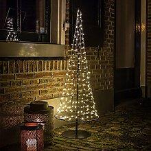 Weihnachtsbaum 100 cm hoch modern aus Metall und Draht 250 LED von Gartenpirat®