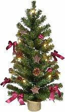 Weihnachtsbaum 75cm - komplett geschmückt mit