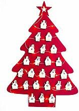 Weihnachtsbaum Adventskalender LED Lichter